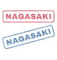 nagasaki textile stamps vector image vector image