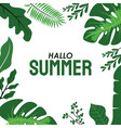 natural background with tropical leaves summer vector image vector image