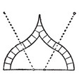 ogee arch lines vintage engraving vector image vector image