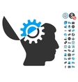 Open Mind Gear Icon With Free Bonus vector image vector image