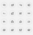 optimization icons line style set with responsive vector image