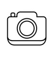 outline photo camera icon vector image