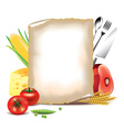 paper food background vector image vector image