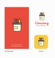 pencil box company logo app icon and splash page vector image vector image