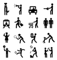 people pictograph vector image vector image