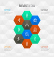 person outline icons set collection of user vector image