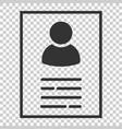 resume icon in flat style contract document on vector image