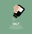 Salt Bottle In Hand vector image