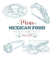 scetch mexican food menu vector image vector image