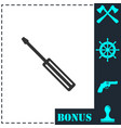screwdriver icon flat vector image