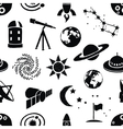 seamless doodle space pattern vector image vector image