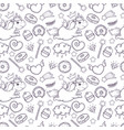 sketch style sweet seamless pattern vector image