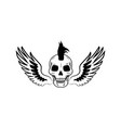 skull and wings image on vector image vector image