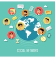Social Network Concept with Humans vector image vector image