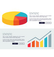 statistic demonstration design for web page vector image