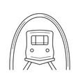 subway line icon vector image