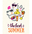 Summer card with hand drawn stylish lettering vector image vector image