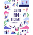summer outdoor indie music festival fair or open vector image