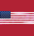 the national flag of the country of united states vector image