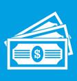 three dollar bills icon white vector image vector image
