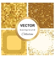 Triangle pattern mosaic background vector image vector image