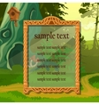 Vintage antique frame in natural surroundings vector image vector image