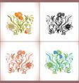 vintage floral ornament set vector image