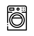 washing house machine sign thin line icon vector image vector image