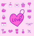 wedding outline icons married vector image vector image