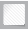 White paper sticker vector image vector image