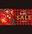 winter salediscount card for 2021 shopping season vector image