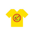 yellow tee shirt no drugs allowed drugs vector image vector image