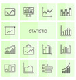 14 statistic icons vector image vector image