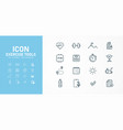 16 circuit icons exercises designed as a vector image