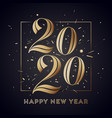 2020 happy new year greeting card with vector image