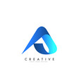 a letter logo design with 3d and ribbon effect vector image vector image
