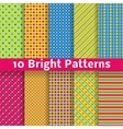 Abstract geometric bright seamless patterns tiling vector image vector image