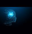 ai - artificial intelligence digital brain