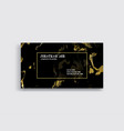 black and gold business card template vector image vector image