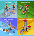 body building isometric design concept vector image