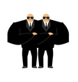 bodyguard isolated security guard face control of vector image vector image