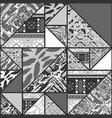 boho grayscale wallpaper vector image vector image