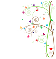 butterfly tree vector image