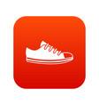 canvas sneaker icon digital red vector image