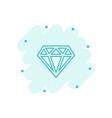 cartoon diamond jewel gem icon in comic style vector image vector image