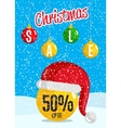 Christmas Holiday Sale Concept vector image