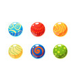 colorful glossy balls set bright shiny spheres vector image