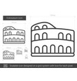 colosseum line icon vector image vector image