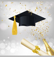 congratulatory banner about getting an education vector image vector image