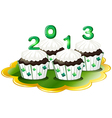Cupcakes for 2013 vector image vector image